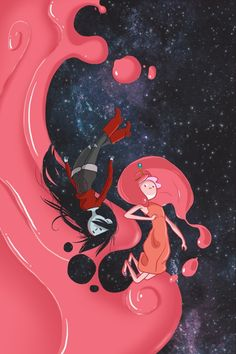 Adventure Time - Marceline and Princess Bubblegum Adventure Time Anime, Adventure Time Wallpaper, Adventure Time Marceline, Adventure Time Princesses, Adventure Time Characters, Disney Characters, Fictional Characters, Cartoon Network, Princesse Chewing-gum