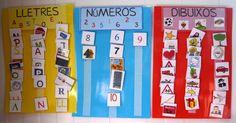 Diferenciar i classificar LLETRES NUMEROS I IMATGES