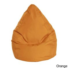 Sitting Point Oxford Fabric Brava Bean Bag (Orange, XL), Size Extra Large