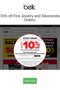 Best deals and coupons for Belk Certificates Health Beauty Personal Care Hardware Building Household Appliances Supplies Luggage Bags Discount Coupons, Discount Shopping, Shop Up, New Trailers, Private Label, Coupon Codes, Health And Beauty, Fine Jewelry, Motor Vehicle