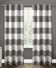 This Santa Monica Cabana Stripe Curtain Panel - Set of Two is perfect! #zulilyfinds