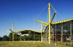 """Sir Norman Foster's """"Renault Distribution Centre"""", 1980, Swindon, receives Grade II* listed status."""