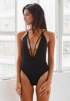 The Trestles one piece available on Bikini.com // Swimwear Chic // Siempre Golden