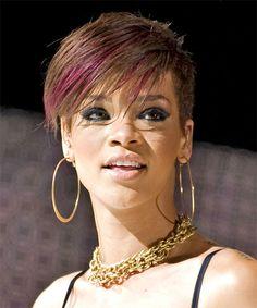 rhianna side swoop hair | Rihanna - Hairstyle