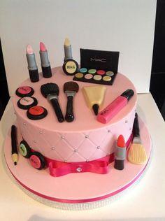 MAC Make up cake  - Cake by classinacake (ina)