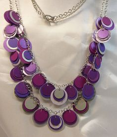 Purple Paper Necklace from beccasblend by beccasblend on Etsy