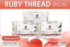 South Korean PLLA Thread lifting ◈ Ruby Thread (PLLA) ◈ ▶Ruby Cog Thread : 1 PACK / 10EA (2PCS x 5) ▶Ruby Mono Thread : 1 PACK / 20EA (4PCS x 5) ▶Ruby Screw Thread : 1 PACK / 20EA (4PCS x 5) ☆Effect : Lifting & Wrinkles Removal Thread Lift, Wrinkle Remover, Facial, Korean, Facial Treatment, Facial Care, Korean Language, Face Care, Face