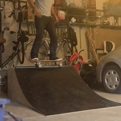 Garage Quarter Pipe: Building a Micro Skate Ramp — DO IT: Projects, Plans, and How-tos Skateboard Ramps, Skate Ramp, Metal Pipe, Pista, When I Grow Up, New Tricks, Skateboarding, Fun Ideas, Playground