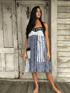 Stella dress-medium large-artsy-Eco clothing-upcycled