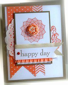 Stampin' Up Happy Day Card by nitestamper on Etsy