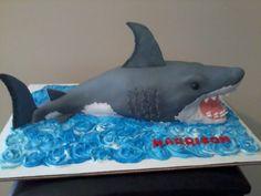 Shark cake by Lydia Scarvey