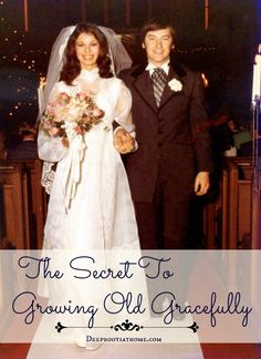 The Secret To Growing Old Gracefully, candlelight wedding, wedding recessional, bride and groom walking up the aisle