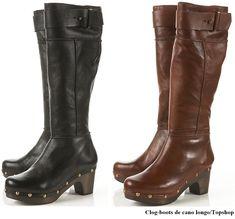 CLOG   Clog-boots de cano longo! OMG, onde eu posso vomitar? hauahuahauha ...