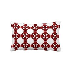 Red & Black Celtic Cross Patterned Pillow #home #decor #zazzle #gifts