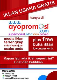 Brosur #ayopromosi #gratis http://www.ayopromosi.com