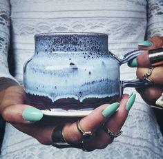 Aurora Handmade Ceramic Jug Mug by OxandOtter on Etsy