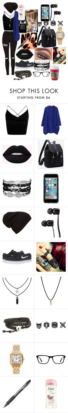 """""""Starbucks then work at the BAU"""" by zoerichardson-1 ❤ liked on Polyvore featuring Boohoo, Mary Kay, OtterBox, Vans, NIKE, Bochic, Dogeared, Topshop, Cartier and Ray-Ban"""
