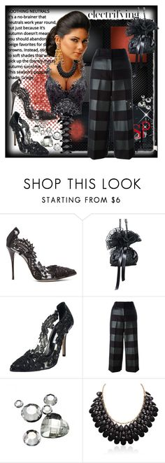 """""""Electrifying~"""" by rj-cupcake ❤ liked on Polyvore featuring Oscar de la Renta and Alexander Wang"""