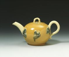 Lead glazed earthenware Teapot  made in Staffordshire, England 1750-1760  V&A Search the Collections