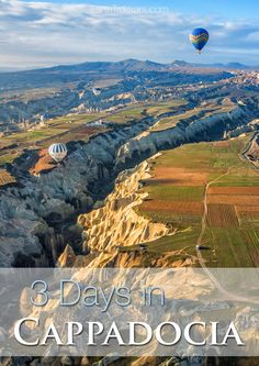 Best things to do with 3 Days in Cappadocia, Turkey. Cappadocia itinerary with short hikes, hot air balloon ride, scenic viewpoints, and where to stay. This is a great destination for families.