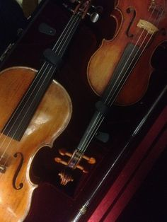 Definitely one of the more exciting fruits of my trip! Two virtually mint Daniel Parker's, both made around 1715 - a violin and viola - together in a double case... in all likelihood my favourite maker of all time, and unbelievably rare! More soon!