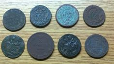 www.M37Auction.com: 8 Medieval European Coins, 1700's - Early 1800's
