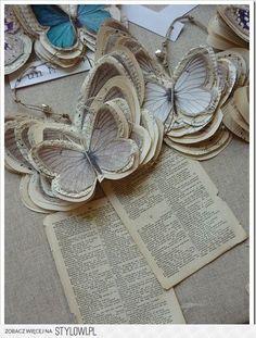 красивые бабочки из ткани и бумаги