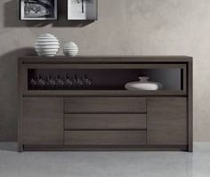Sideboard Decor, Dining Room Sideboard, Credenza, Apartment Furniture, Home Furniture, Furniture Design, Modern Buffet, Muebles Living, Steel Furniture