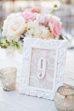 wedding reception table number idea; photo: Hunter Ryan Photo
