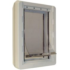 Ideal cat 7.25 in. x 13 in. Medium Ruff Weather Frame Door with Dual Flaps >>> New and awesome cat product awaits you, Read it now  : Cat Doors, Steps, Nets and Perches