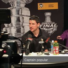 Sidney Crosby at the 2017 Stanley Cup Finals Media Day
