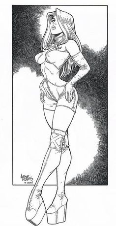 Emma Frost the White Queen by Arthur Adams Sexy Drawings, Pencil Art Drawings, Comic Artist, Artist Art, Character Art, Character Design, Drawn Art, Fantasy Girl, Comic Books Art