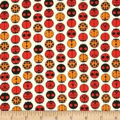 Birch Organic Charley Harper Ladybugs Ivory from @fabricdotcom  Designed by Charley Harper for Birch Organic Fabrics, GOTS certified organic cotton print fabric is perfect for quilting, apparel and home décor accents. Colors include ivory, red, black and orange.