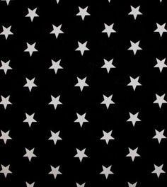 Baumwoll Sterne Stars Kinder Deko Patchwork Stoff schwarz weiß Grandy J.Swafing