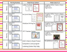 Time 4 Kindergarten: A Peek at My Week