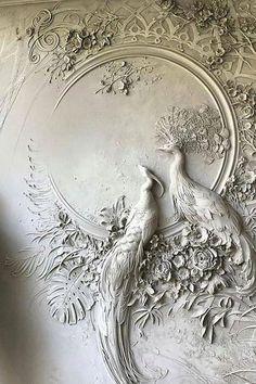 Russian artist Goga Tandashvili creates bas-relief sculptures on otherwise ordinary walls. Art Mural, Wall Murals, Wall Art Decor, Plaster Art, Plaster Walls, Wall Art Designs, Wall Design, Wall Sculptures, Sculpture Art