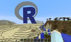 R programming with Minecraft by Nathan Yau #datavis #visualization