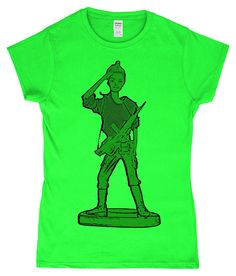 Perfect gift for that soldier in your life!Barbie morphed into a toy soldier! Military Salute, Gun Humor, Barbie Toys, Toy Soldiers, Female Art, Plastic, Doll, T Shirts For Women, Inspired