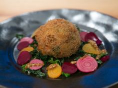 Crab Cake with a Soft-Boiled Egg Inside Recipe : Food Network - FoodNetwork.com