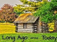 Long Ago versus Today Projectable....here are images to help you compare and contrast long ago and today.  FREE.