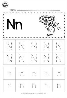 Free Letter N Tracing Worksheets Free Preschool, Preschool Printables, Preschool Worksheets, Alphabet Tracing Worksheets, Tracing Letters, Prewriting Skills, Daycare Curriculum, Homeschooling, Friendly Letter