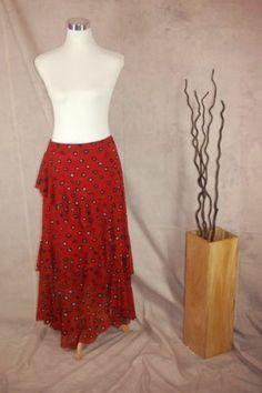 Isabel De Pedro Mr Cat Skirt 12 Red Leopard Print Tiered