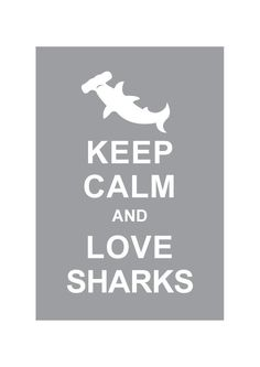 Keep Calm and Love Sharks - Personalized custom color Wedding Birthday Anniversary Children Decor Kids Home Decor - BUY 2 Get 1 Free. $10.80, via Etsy.