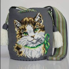 Crochet Backpack Pattern, Tapestry Crochet Patterns, Back Bag, Tapestry Bag, Fashion Backpack, Purses And Bags, Animals, Diy And Crafts, Tunisian Crochet