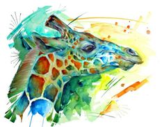 Texas artist, sarah janice garcia ,donated her expressive and colorful wildlife art for the art center and now pledges a percentage of her sales to arts for Healthy Prawn Recipes, Healthy Food List, Healthy Eating For Kids, Kids Diet, Heart Healthy Recipes, Health Snacks For Work, Health Care Assistant, Giraffe Art, Healthy Living Magazine