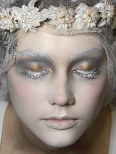 """Diaphanee blvck-voodooism: """" lamorbidezza: """" Make-up at John Galliano Fall 2009 """" """" Galliano is a god Artist Makeup, Makeup Art, Beauty Makeup, Eye Makeup, Makeup Ideas, Ghost Makeup, Exotic Makeup, Hair Beauty, Make Up Looks"""