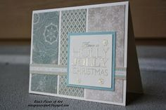 Frosted CTMH Christmas card