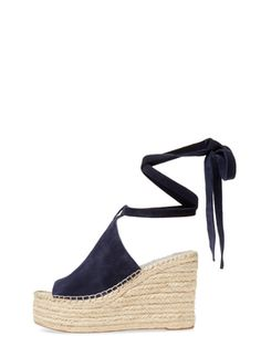 Audora Suede Lace-Up Wedge from Up to 70% Off: Sigerson Morrison on Gilt
