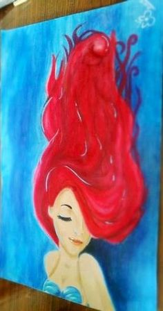 Mermaid Painting Source by silvanaclotan Mermaid Canvas, Mermaid Art, Mermaid Paintings, Mermaid Drawings, Diy Painting, Painting & Drawing, Beautiful Artwork, Disney Art, Painting Inspiration
