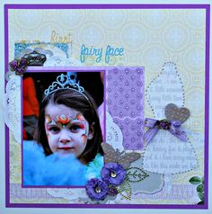BRAND NEW Webster's Pages GIRL LAND & Unity Stamp Company Unity {itty} bitty backgrounds  www.unitystampco.com. - Card Created by Unity Design Team Member Shemaine Smith